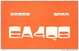 Amateur Radio QSL Card -  EA4QB - Madrid, Spain - 1977 - 2 Scans - Radio Amateur