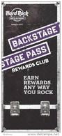Paper Hard Rock Casino Sioux City, IA Backstage Pass Rewards Club Brochure - Casino Cards