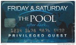 Harrahs Casino Atlantic City, NJ - Paper Privileged Guest Card For The Pool Friday & Saturday - Advertising
