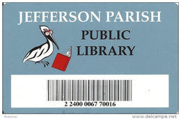 Library Card - Jefferson Parish Public Library - Metairie, LA - Other Collections