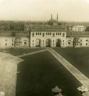 Inde Lucknow Mosquée Bara Imambara Place Ancienne Stereo Photo Kurt Boeck 1906