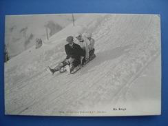 En Luge. Carte Neuve éditée Par Charnaux à Genève Vers 1910. Etat LUXE. - Sports D'hiver