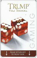 Trump Taj Mahal Casino Hotel Room Key Card Atlantic City NJ With PG Manufacturer Mark