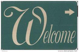 Generic Welcome Room Key Card - Hotel Keycards