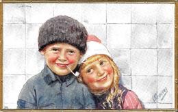 [DC10130] CPA - BAMBINI - ILL. RE FEIERTAG KARL  - Viaggiata 1915 - Old Postcard - Feiertag, Karl