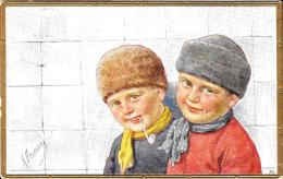 [DC10131] CPA - BAMBINI - ILL. RE FEIERTAG KARL  - Viaggiata 1915 - Old Postcard - Feiertag, Karl