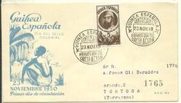 FDC  1949 CERTIFICADA - Guinea Española