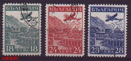 BULGARIA - AIRPOST SET 1932 COMPLETE - VERY FINE USED! - 1909-45 Royaume