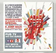Publicité , Tournée Des ROLLING STONES , Musiciens ,musique , 6 Pages , 2006 , 2 Scans , Frais Fr : 1.95€ - Publicités