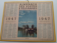 1947 Sérénité / Carte Des Chemins De Fer NORD ( Oberthur Rennes Paris : Zie/voir Photo Pour/voor Detail !! - Calendarios