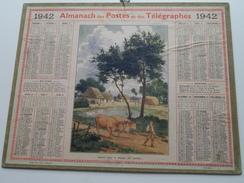 1942 Départ Por Le Travail ...... / Carte Des Chemins De Fer NORD ( Oberthur Rennes : Zie/voir Photo Pour/voor Detail !! - Calendarios