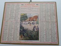 1941 Ferme Dans Le Morbihan / Carte Des Chemins De Fer NORD ( Oberthur Rennes : Zie/voir Photo Pour/voor Detail !! - Calendarios