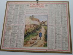 1940 Le Printemps / Carte Des Chemins De Fer NORD ( Oberthur Rennes : Zie/voir Photo Pour/voor Detail !! - Calendriers