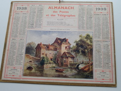 1938 Moulin Des Tracreniers ..... / Carte Des Chemins De Fer NORD ( Oberthur Rennes : Zie/voir Photo Pour/voor Detail !! - Calendriers