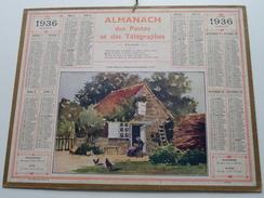 1936 Vieille Maison .........Orne / Carte Des Chemins De Fer NORD ( Oberthur Rennes : Zie/voir Photo Pour/voor Detail !! - Calendars