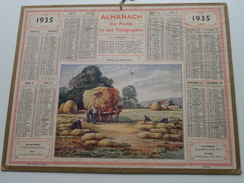 1935 Moisson En Seine-et-Oise / Carte Des Chemins De Fer NORD ( Oberthur Rennes : Zie/voir Photo Pour/voor Detail !! - Calendriers