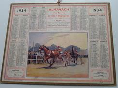 1934 Courses Au Trot / Carte Des Chemins De Fer NORD ( Oberthur Rennes : Zie/voir Photo Pour/voor Detail !! - Calendriers