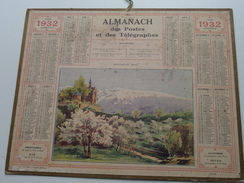 1932 Montfleury ( Isère ) / Carte Des Chemins De Fer NORD ( Oberthur Rennes : Zie/voir Photo Pour/voor Detail !! - Calendriers