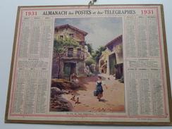 1931 Un Coin Du Vieux Châtel-Guyon / Carte Des Chemins De Fer NORD ( Oberthur Rennes : Zie/voir Photo Pour/voor Detail ! - Calendars