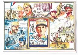 1991 Comoro Comores De Gaulle Souvenir Sheet  MNH