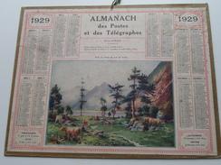1929 Fonds Du Lac De Gaube / Carte Des Chemins De Fer NORD ( Oberthur Rennes : Zie/voir Photo Pour/voor Detail ! - Calendriers