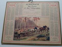 1928 Transport Des Grumes En Fôret / Carte Des Chemins De Fer NORD ( Oberthur Rennes : Zie/voir Photo Pour/voor Detail ! - Calendriers