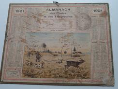 1921 Hallali De Crevreuil / Chemin De Fer Du Dép. NORD ( Oberthur Rennes : Zie/voir Photo Pour/voor Detail ! - Calendriers