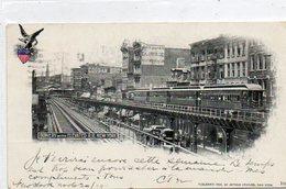 Etats-Unis       NEW YORK        Bowery With Elévated RR - Transports