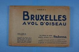 Carnet De 12 CPA Bruxelles à Vol D'oiseau Edition De La Sabena - Panoramische Zichten, Meerdere Zichten