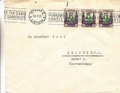 Lituanie - Lettre De 1932 ° - Oblit Kaunas - Exp Vers Leipzig - - Lithuania