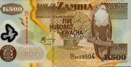 ZAMBIE  500 KWACHA De 2005  Pick 43d  UNC/NEUF - Zambie