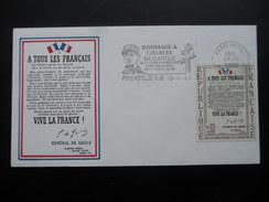 FDC Appel Du Général De Gaulle Paris Hotel De Ville 1990