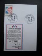 Carte FDC Appel Du Général De Gaulle Huppy 1990