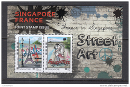 Singapore 2015 Joint Issue With France, Street Art S/S MNH