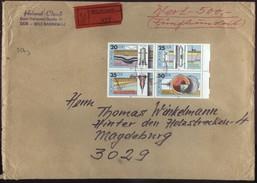 DDR Wertbrief V. ??.12.1989 Nach Magdeburg MiF Mi Zdr 2557 - 2560 B0039 - Lettres