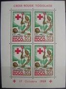 TOGO - H. BLOQUE IVERT Nº1148A USADO - CRUZ ROJA (R163) - Cruz Roja