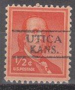 USA Precancel Vorausentwertung Preos Locals Kansas, Utic 728,5