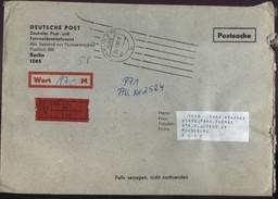 DDR Wertbrief Postsache V. 23.01.1990 Nach Magdeburg B0058 - Cartas
