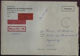 DDR Wertbrief Postsache V. 31.07.1987 Nach Magdeburg B0059 - Cartas