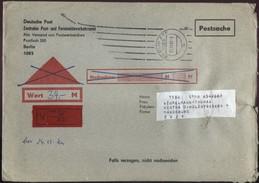 DDR Wertbrief Postsache V. 21.11.1988 Nach Magdeburg B0060 - Cartas