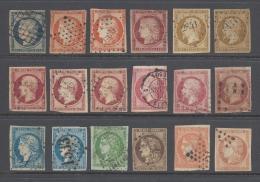 FRANCE 1850/1870 SMALL LOT OF KEY VALUES Nº 6,9,18 ETC .... - France