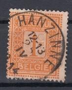 "Belgien 1 C Ziffer 1912 - ""Hanzine"" Zentrisch Gestempelt"