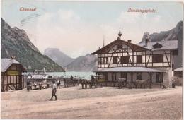 OSTERREICH-AUSTRIA   EBENSEE -Landungsplatz     Alte AnsichtsKarte   1908 - Ebensee