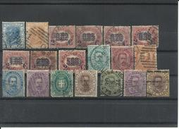ITALIA LOTE SELLOS AÑOS 1867/1889