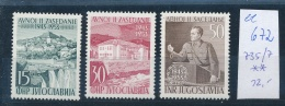 Jugoslawien Nr.  735-7    **(ee672    ) Siehe Scan - Unused Stamps