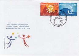 SLOVENIA FDC 679-680,Olympic Games Peking 2008