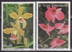 SAO TOME E PRINCIPE, 1989, Orchids, Flowers,  Mi  1109-1110 MNH**