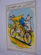 LES SPORTS AVEC GERMAINE BOURET GARCON CHIEN VELOT SERIE N0 5588  6/6 FABRICATION MD FRANCAISE - Bouret, Germaine