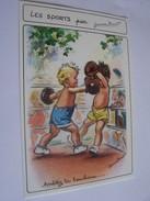 LES SPORTS AVEC GERMAINE BOURET ENFANTS BOXE CHIEN PLONGEON  SERIE N0 5588  6/1 FABRICATION MD FRANCAISE - Bouret, Germaine