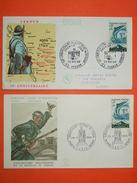 FRANCE 1er Jour 1966 - N°1484 Verdun Sur 2 Enveloppes.  Superbe